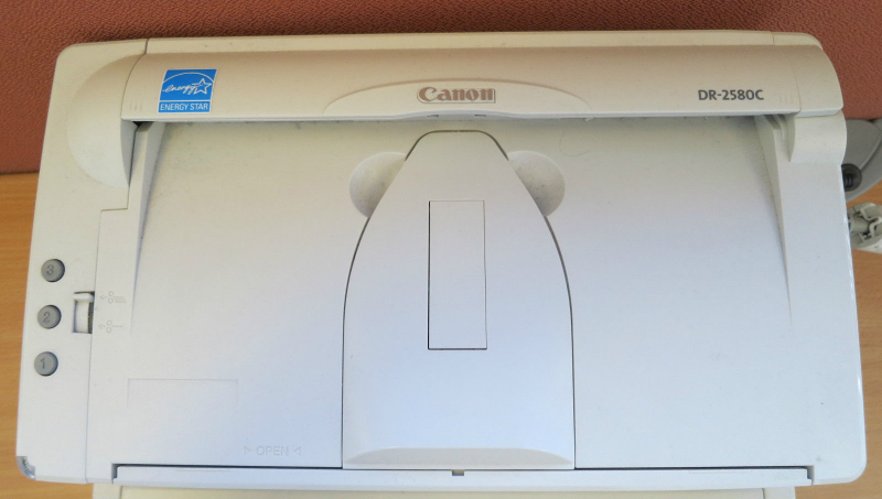 Using acrobat with the canon dr-2580c scanner.